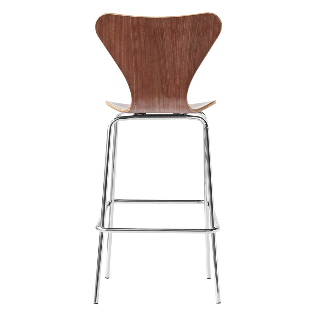 Pleasing Details About Cherner Style Molded Wood Mid Century Modern Bar Stool Beatyapartments Chair Design Images Beatyapartmentscom