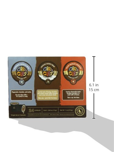 Crazy-Cups-Chocolate-Lovers-039-Flavored-Coffee-Variety-Pack-Sampler-24-ct thumbnail 7