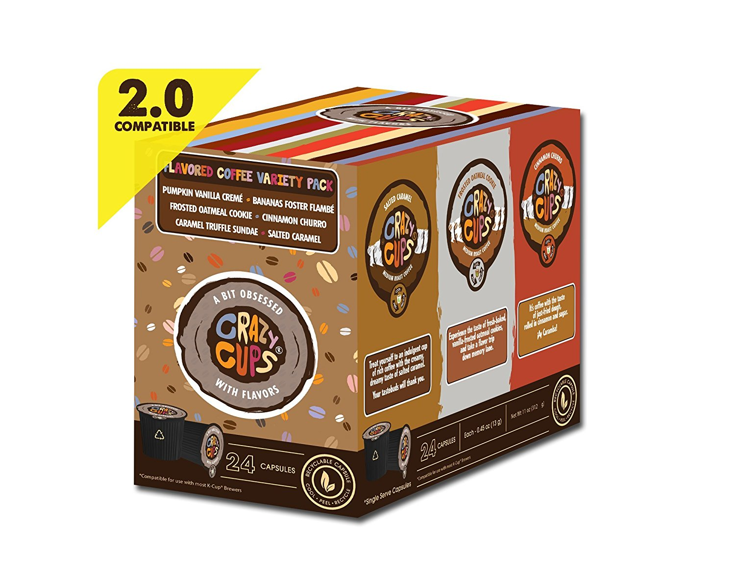 Crazy-Cups-Chocolate-Lovers-039-Flavored-Coffee-Variety-Pack-Sampler-24-ct thumbnail 10