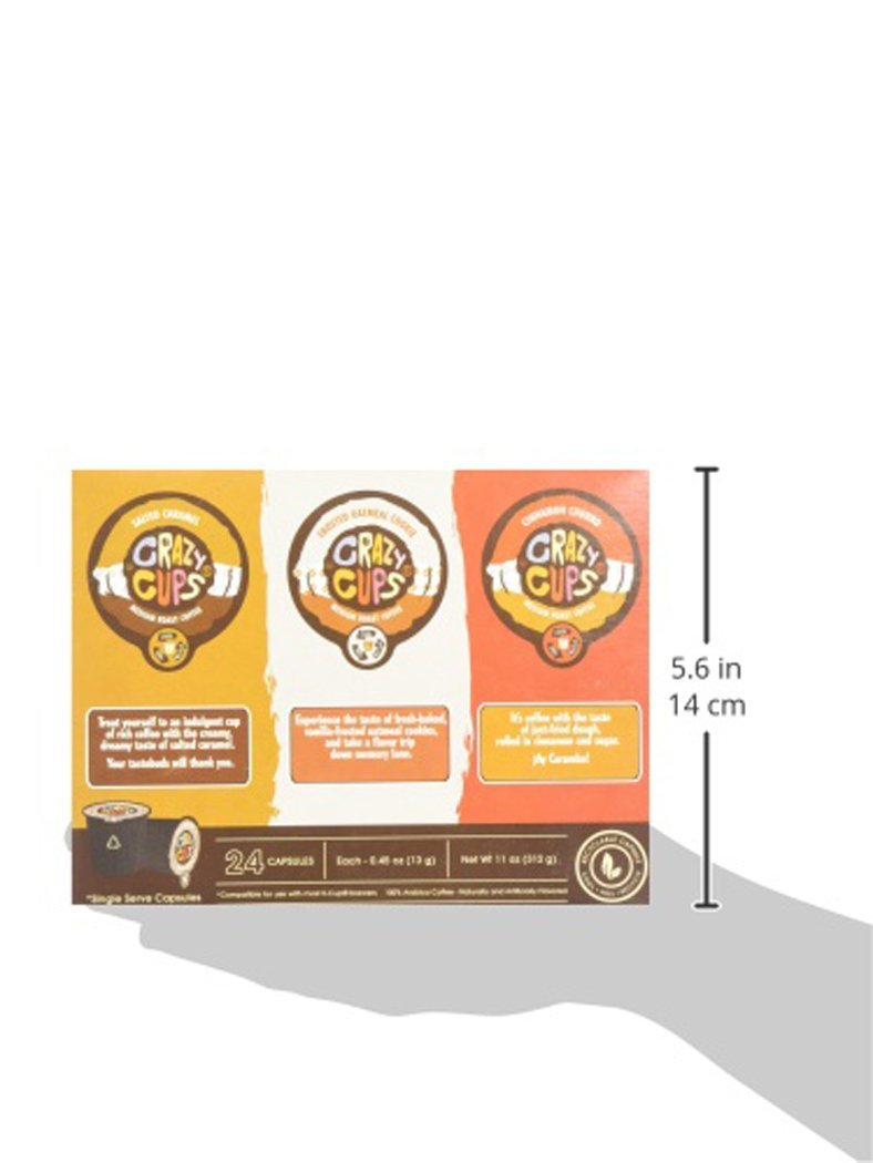 Crazy-Cups-Chocolate-Lovers-039-Flavored-Coffee-Variety-Pack-Sampler-24-ct thumbnail 12