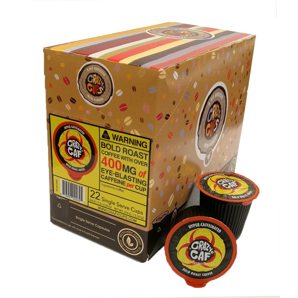 Crazy-Cups-Crazy-Caf-Extra-Caffeinated-Coffee-Cups-for-Keurig-K-Cup-22-Count thumbnail 3