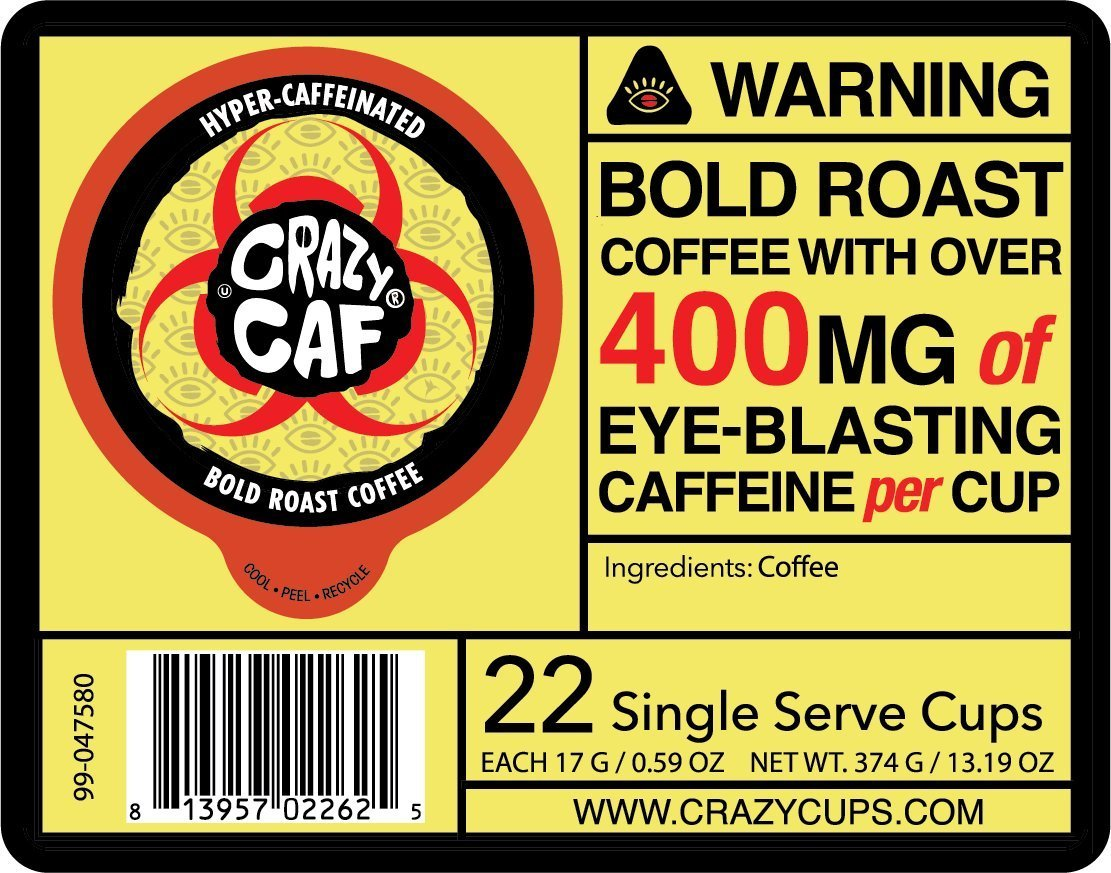Crazy-Cups-Crazy-Caf-Extra-Caffeinated-Coffee-Cups-for-Keurig-K-Cup-22-Count thumbnail 4
