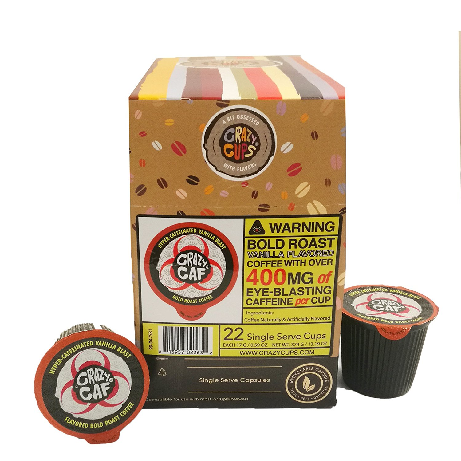 Crazy-Cups-Crazy-Caf-Extra-Caffeinated-Coffee-Cups-for-Keurig-K-Cup-22-Count thumbnail 6