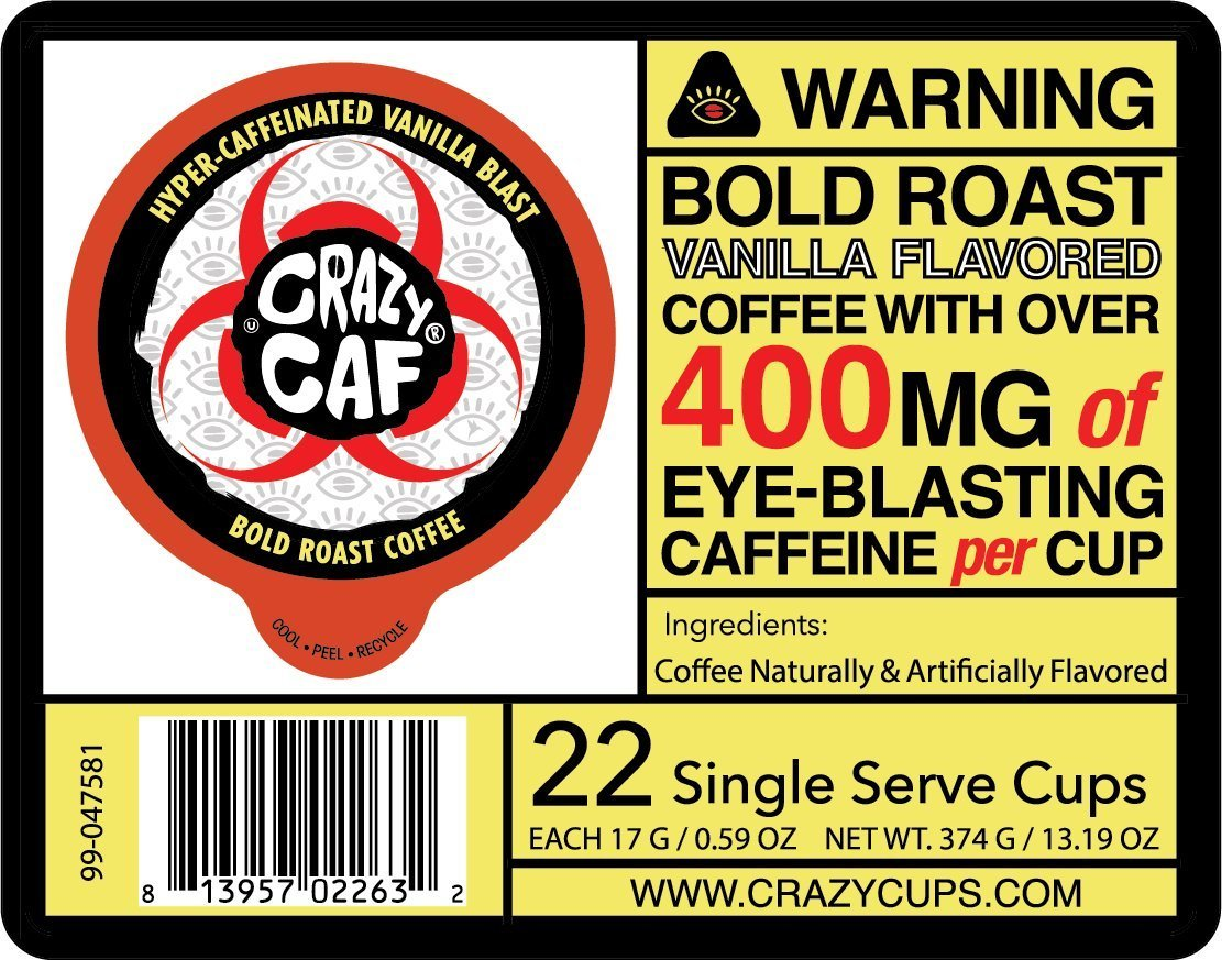 Crazy-Cups-Crazy-Caf-Extra-Caffeinated-Coffee-Cups-for-Keurig-K-Cup-22-Count thumbnail 8