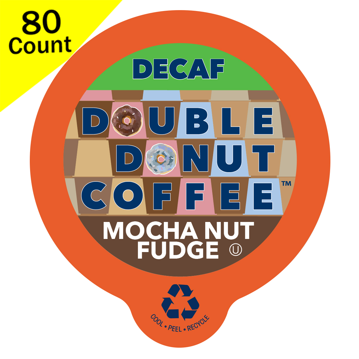 Double Donut Decaf Flavored Coffee Cups for Keurig K-Cup 80 ct