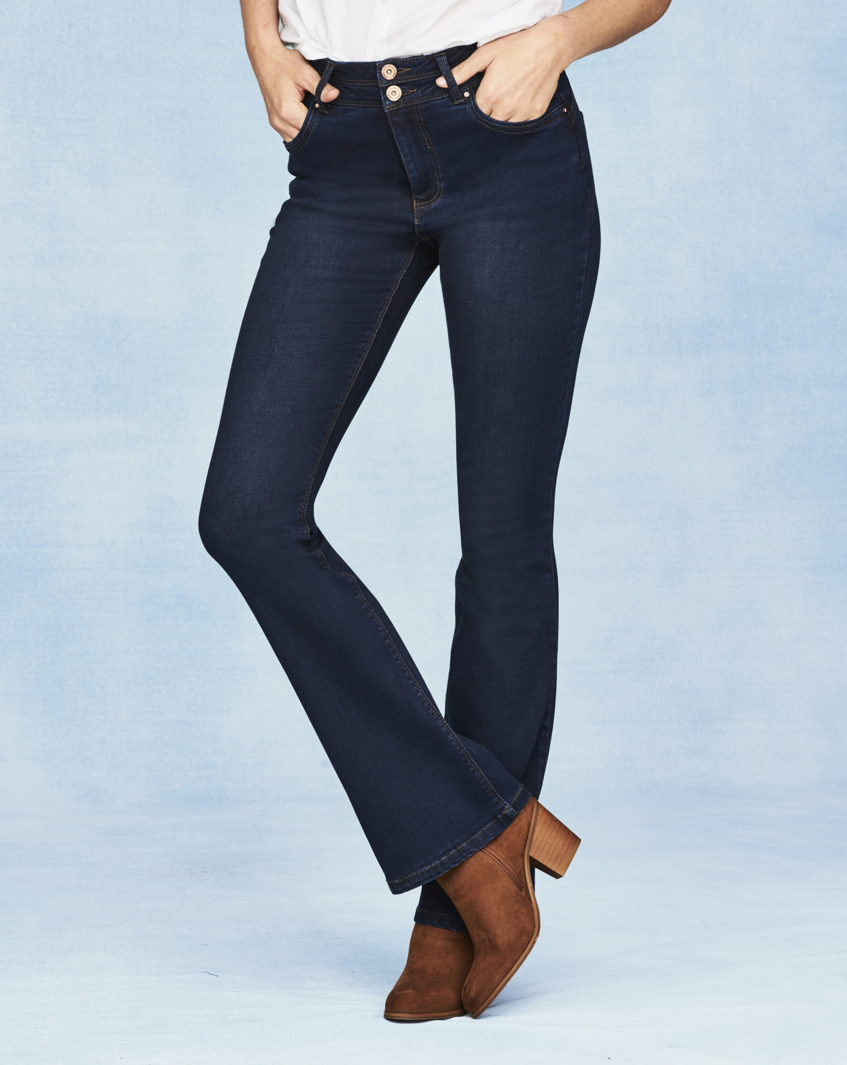 amp; High Sculpt Premium Womens Bootcut Simply New Shape Waisted Be wCXvfxq
