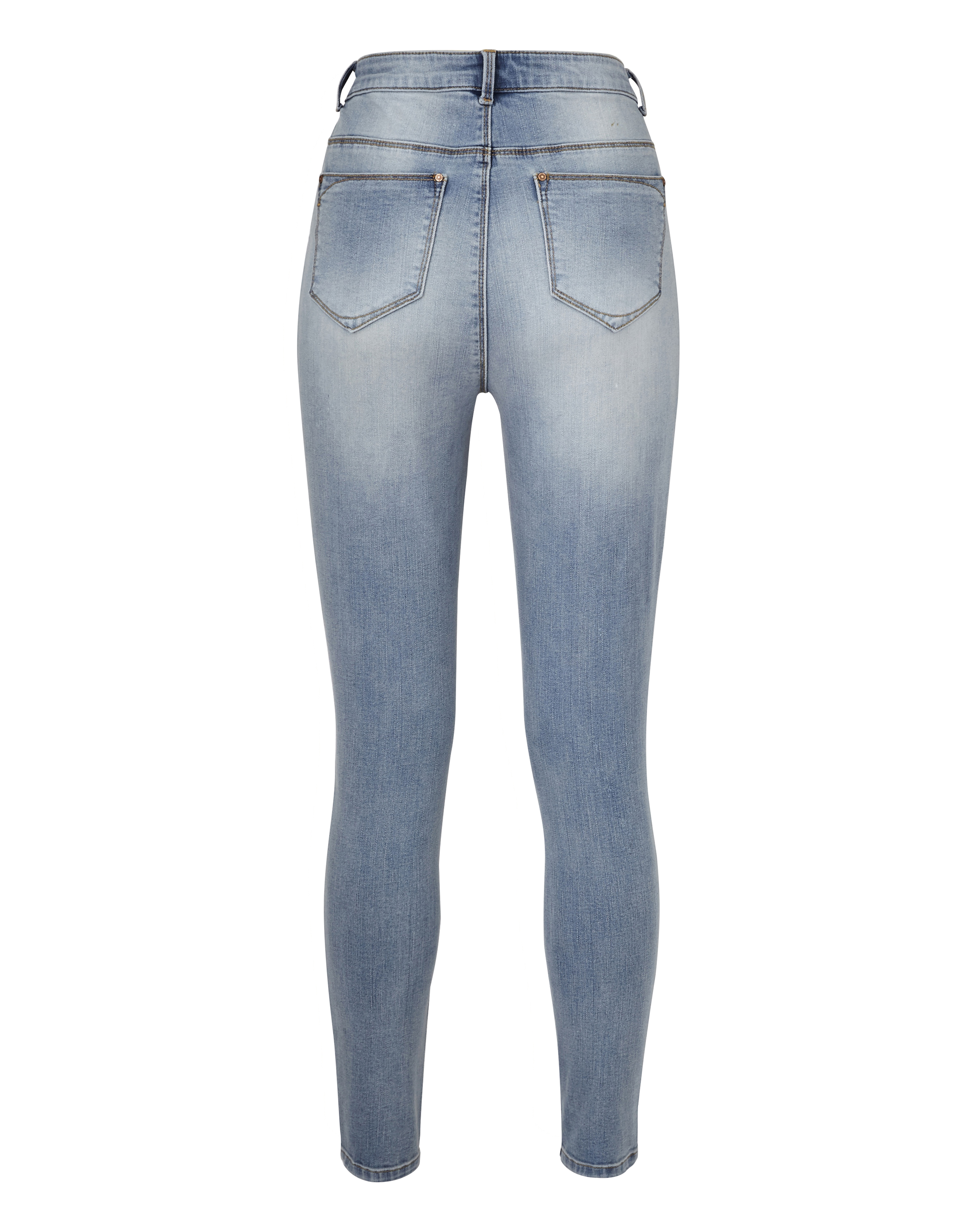 Womens-Chloe-High-Waist-Distressed-Skinny-Jeans-Simply-Be thumbnail 5