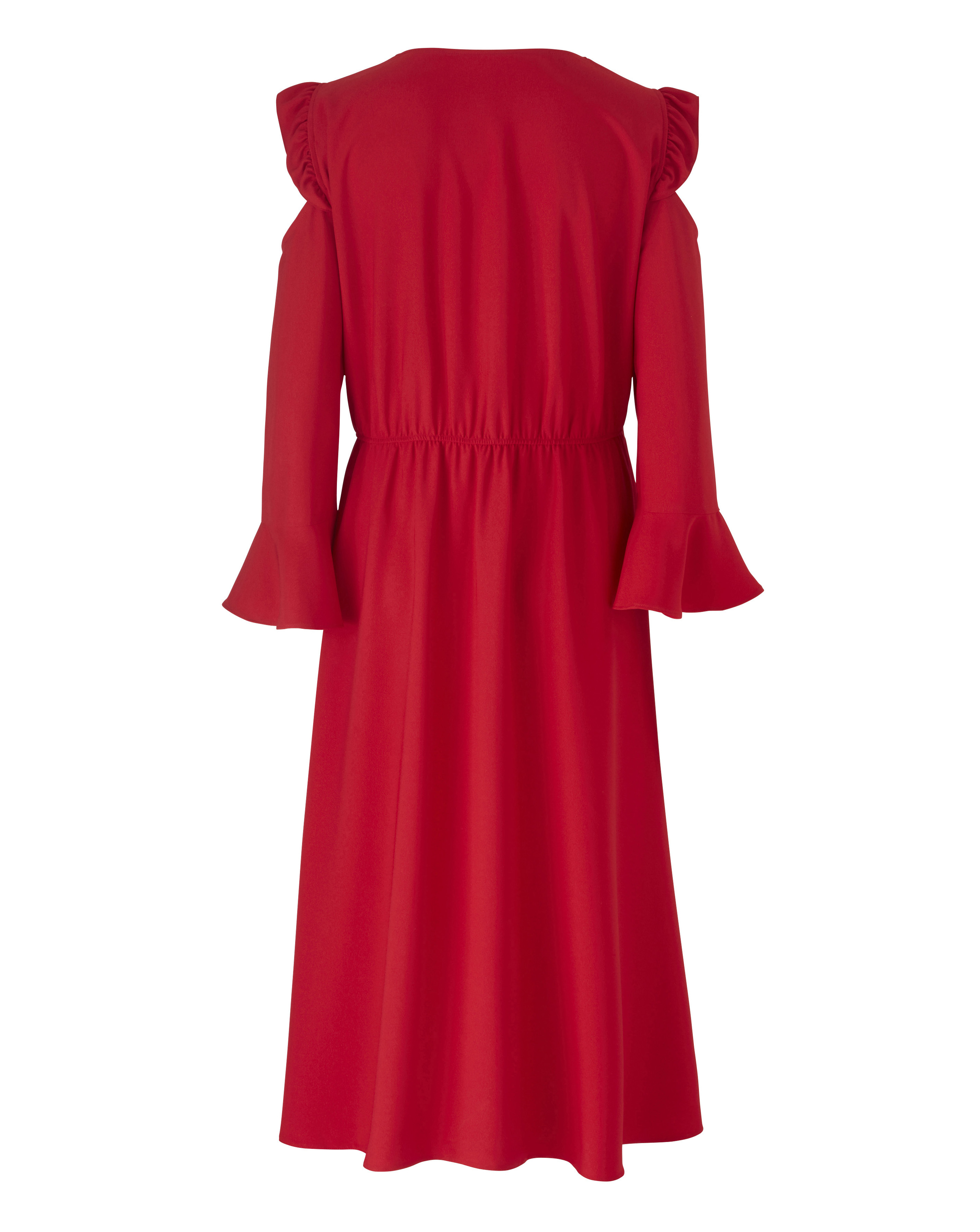 New-Simply-Be-Womens-Wrap-Ruffle-Sleeve-Dress