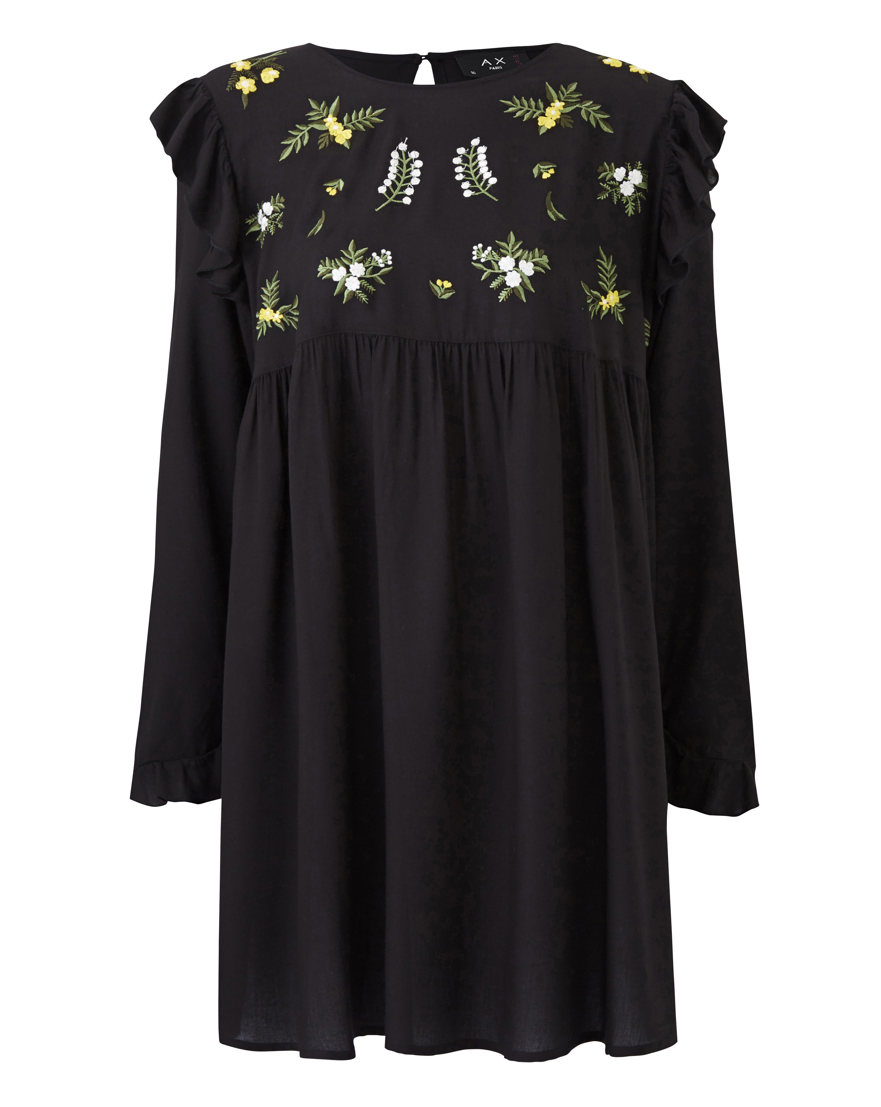 Womens AX Paris Curve Embroidered Smock Dress Simply Be