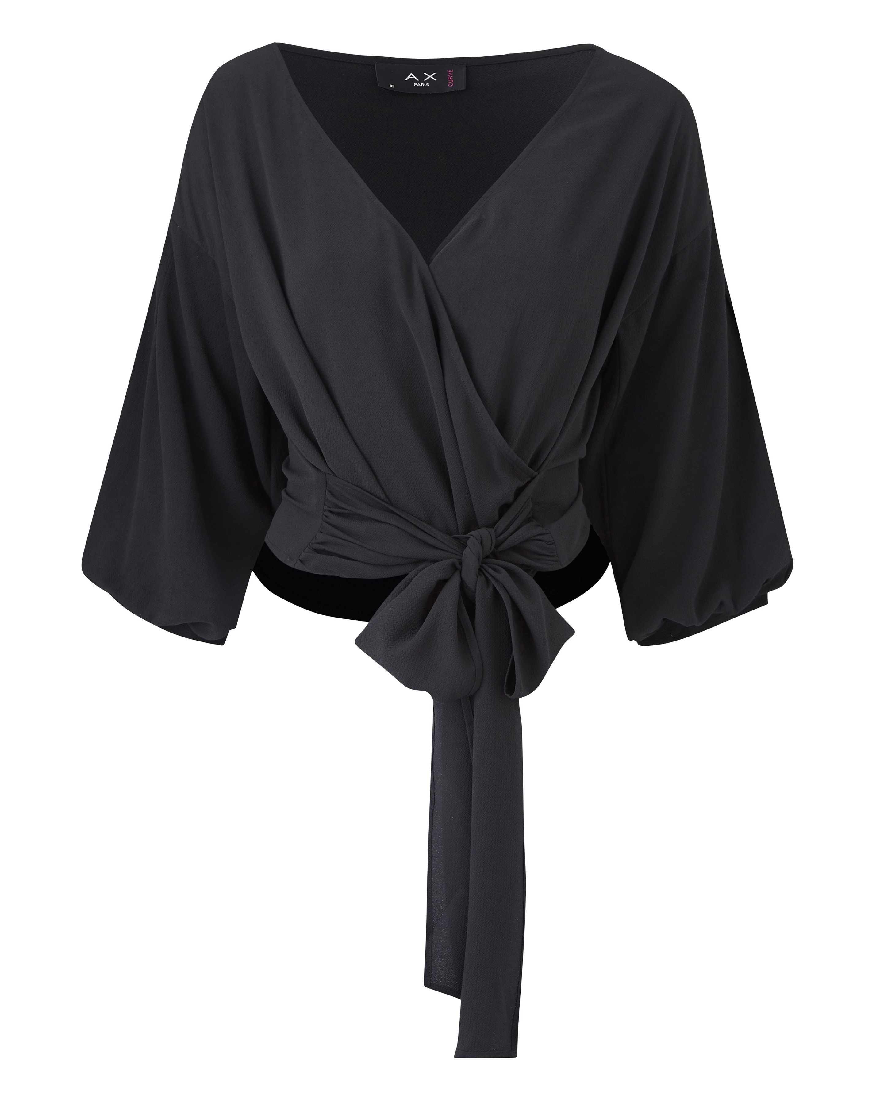 f3c32c25e1c74 Details about Womens AX Paris Curve Kimono Wrap Top - Simply Be