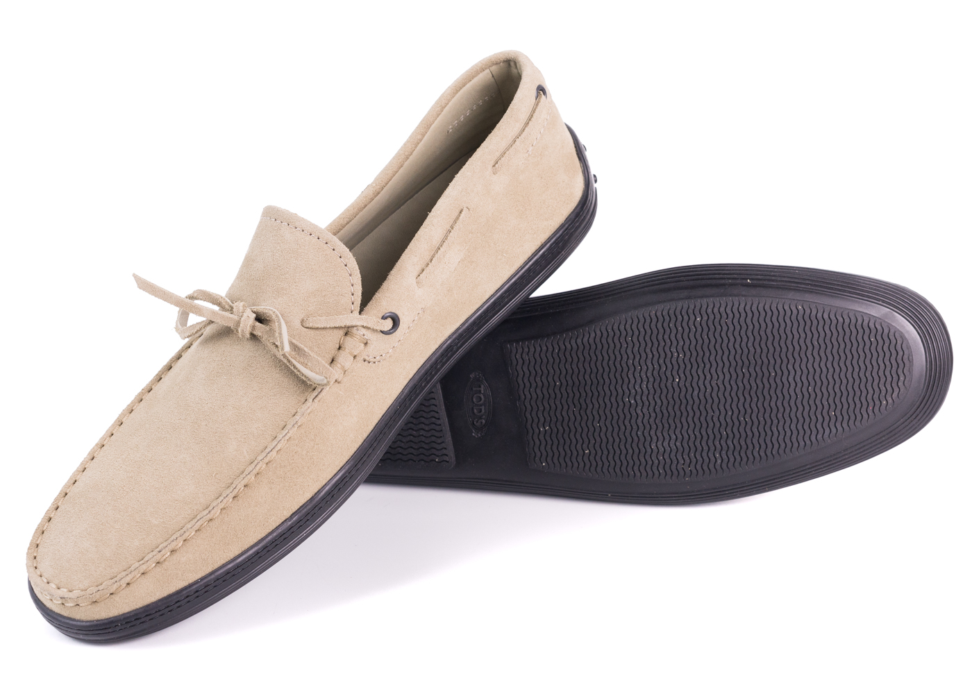 8b710ced0e7 Tod's Men's Grey Suede Black Sole Front Tie Moccasins UK6/US7 RTL ...