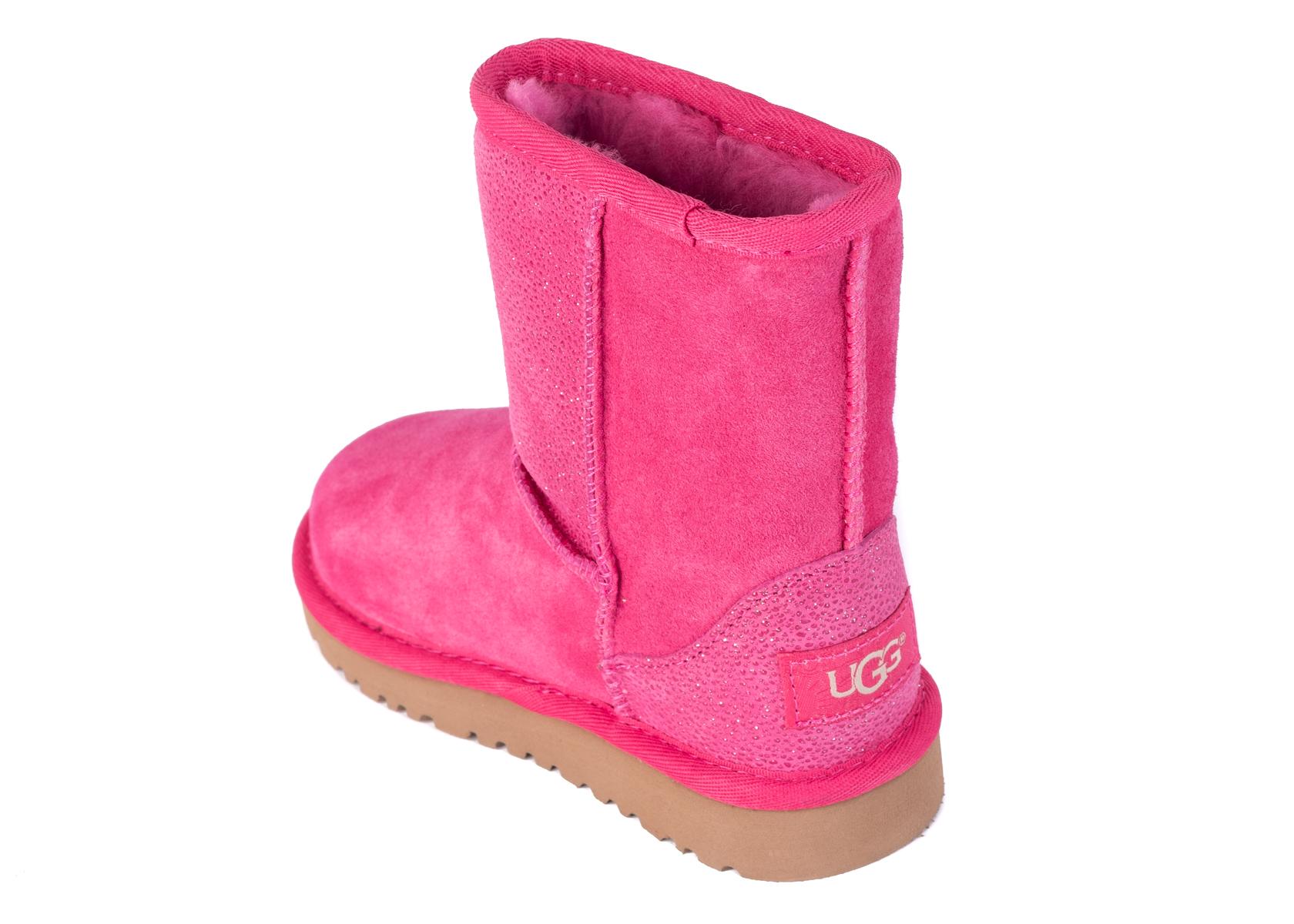 3f345f98fff UGG Toddler Girls Classic Short Serein Pink Glitter Boots Size US9 ...