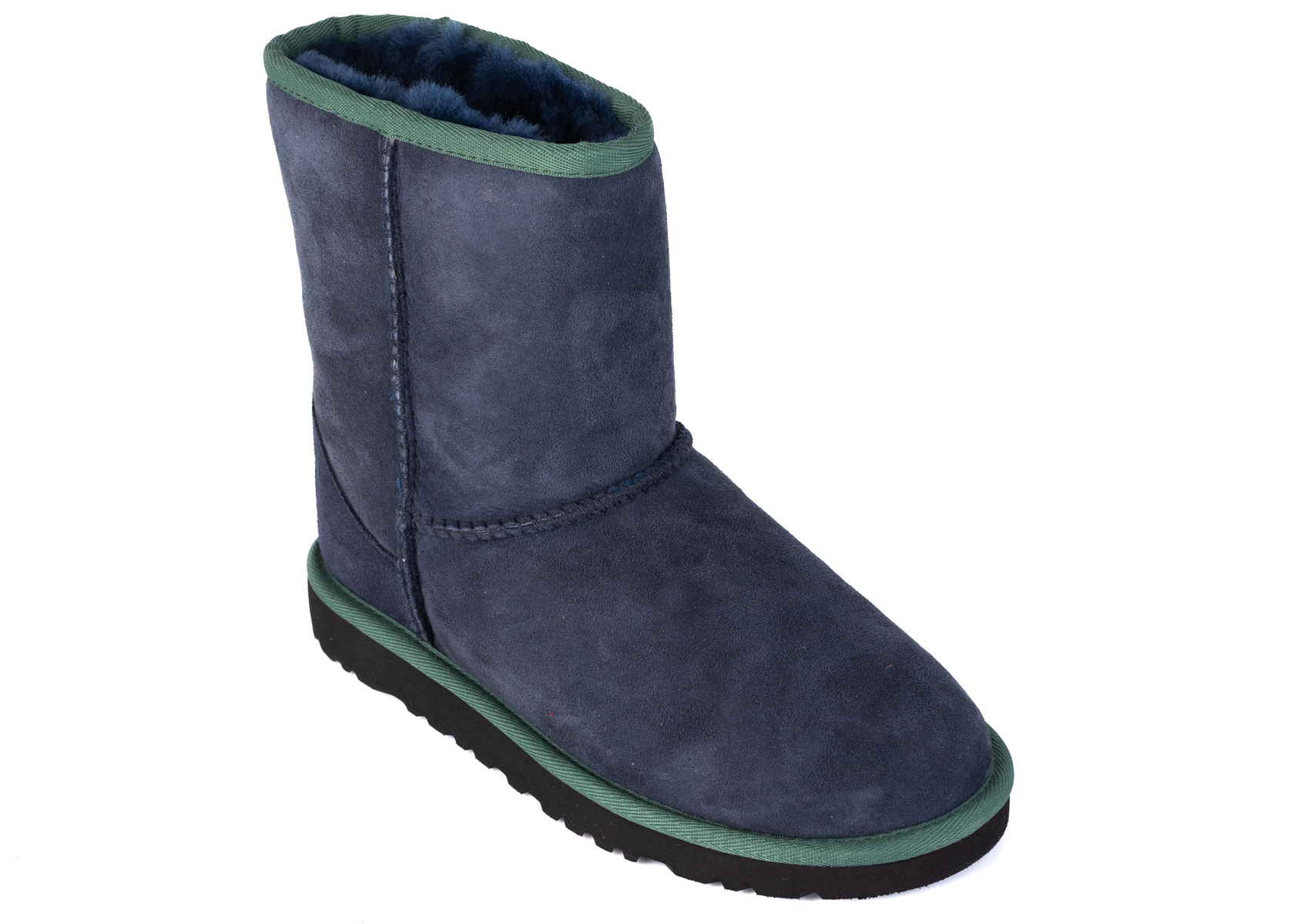 47c9b6d42ce UGG Kids Girls Blue Green Suede Classic Short Boots Size US2~RTL$150 ...