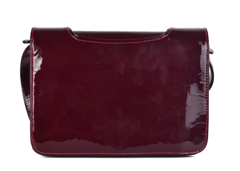 46cbb0c9cc7 Christian Louboutin Womens Burgundy Patent Leather Shoulder Bag ...