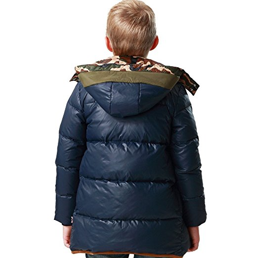 0ffa656574f1 Leo Lily Big Boys winter Long Down Padded Puffer Jacket with Hood