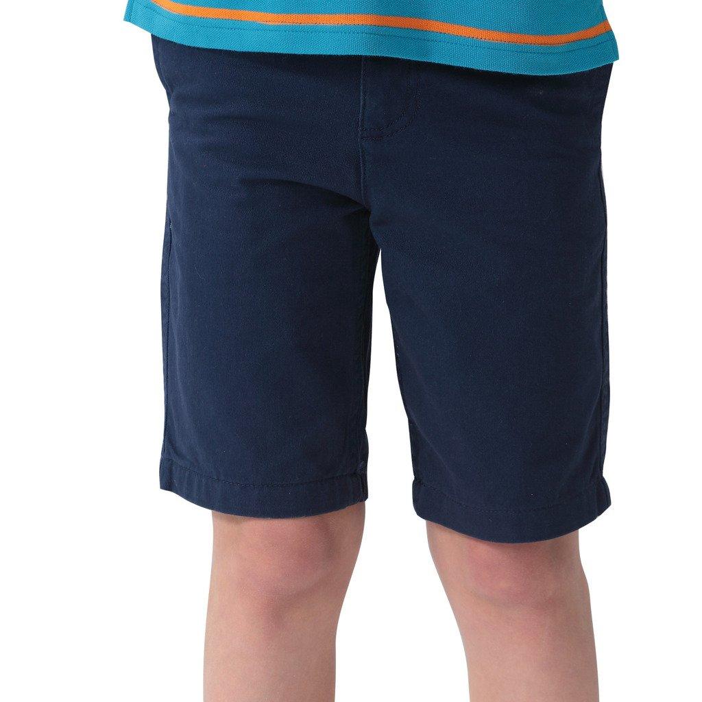 c60eda3fee Leo&lily Boys' Kids Elastic Waist Casual Fine Cotton Chino Shorts Navy 6  Slim