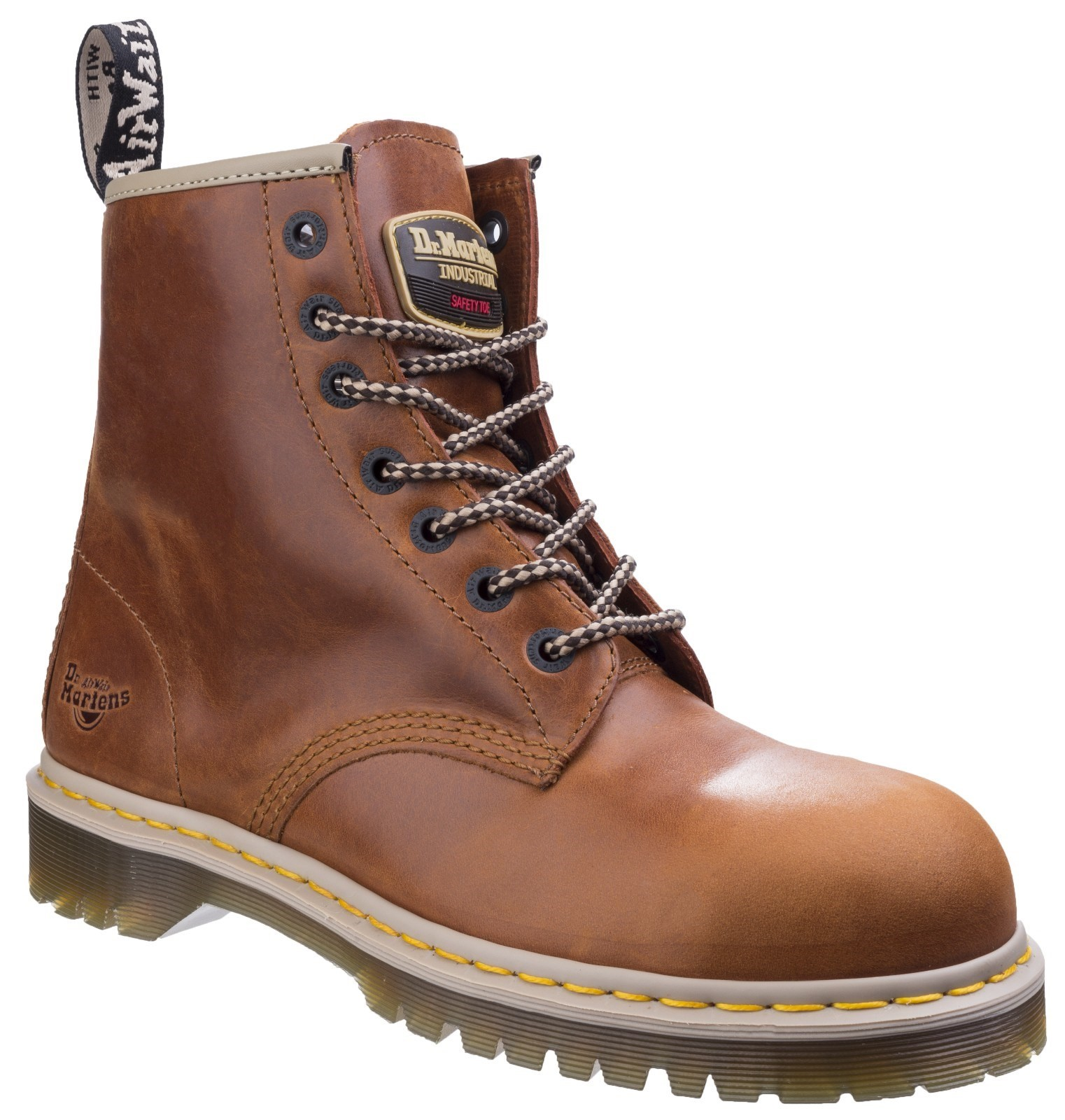 b8de0263388 DR MARTENS 7B10 SB tan 7 eyelet Airwair DM steel toe safety boot size 3 UK
