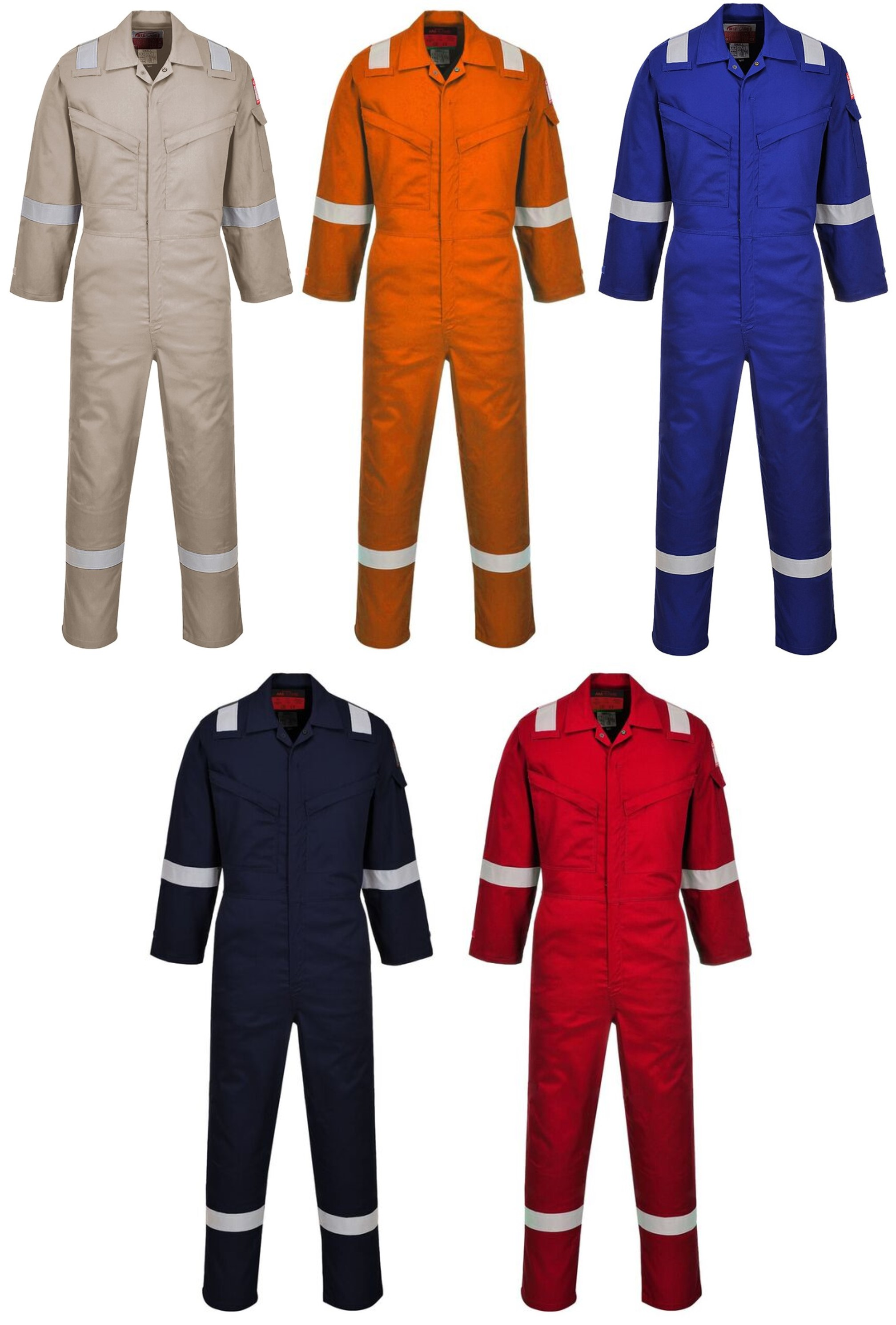 5a06329b888d Portwest AF73 lightweight flame resistant elasticated coverall khaki size 36