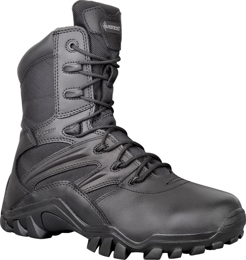 Bates 2348 Delta 8 black side-zip combat non-safety service cadet non-safety combat boot size 2-14 8046d7