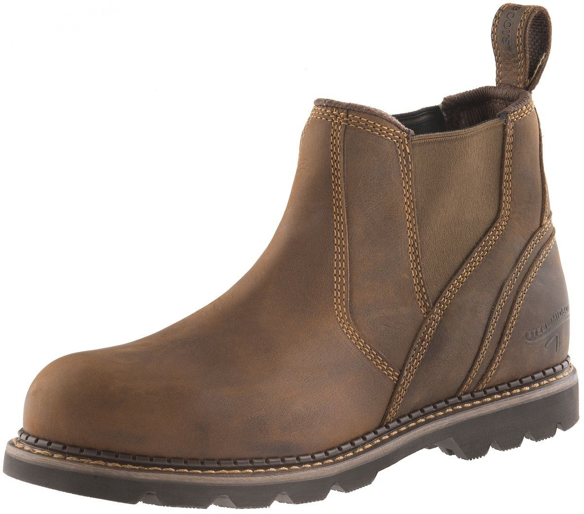 Buckler B1555SM waxed brown crazy boot horse leather safety dealer boot crazy  6/40 - 13/47 72c001