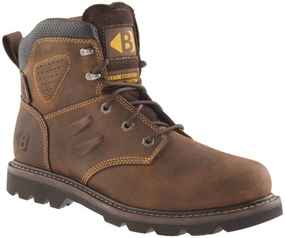Buckler B1800 B1800 B1800 Buckflex Crazy Horse Leather non-safety ankle boot sz 6/40--13/47 ea9c09