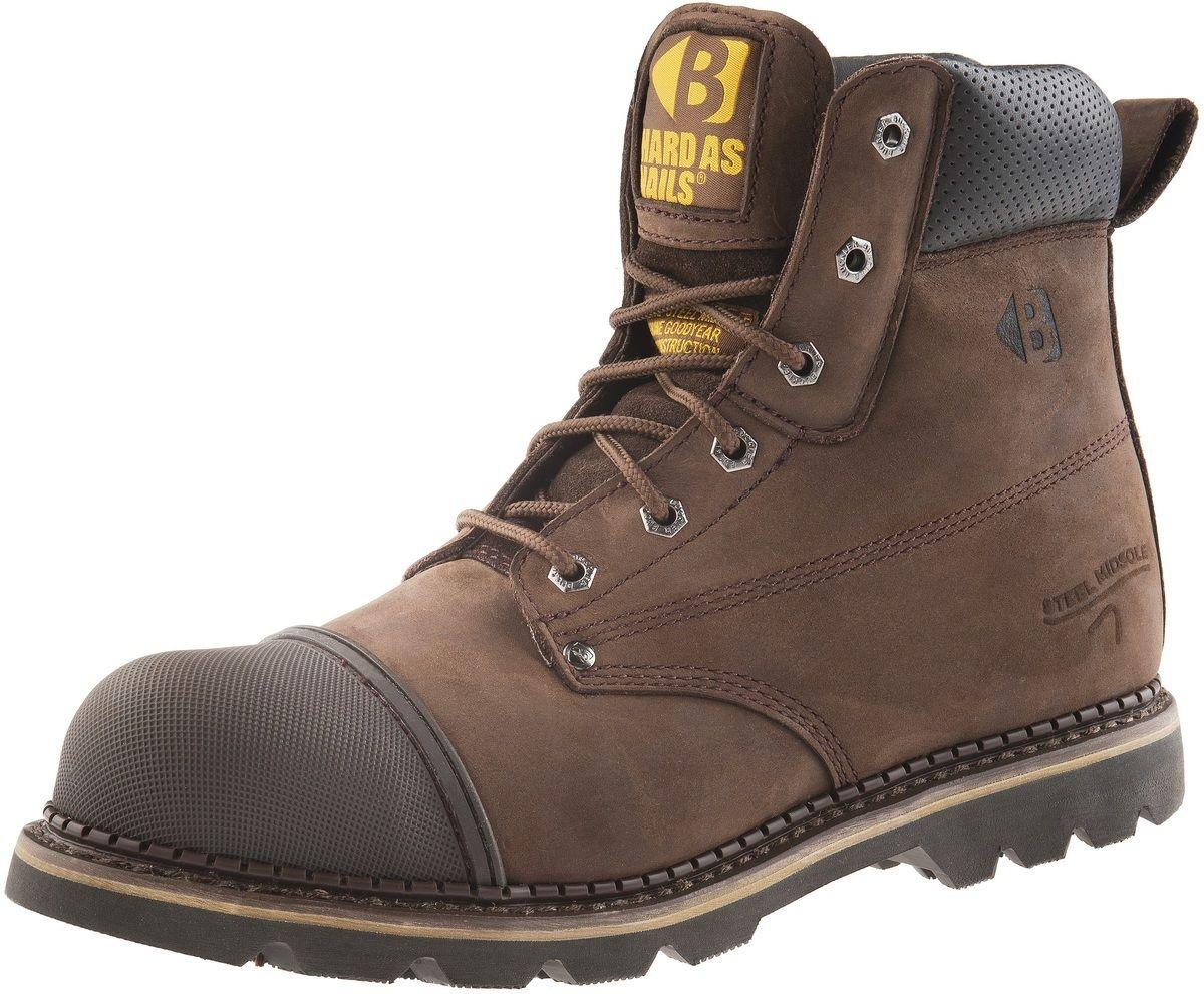 BUCKLER B301SM Hard As Nails CIOCCOLATO Olio Pelle sicurezza Boot SZ 6/40 & 13/47