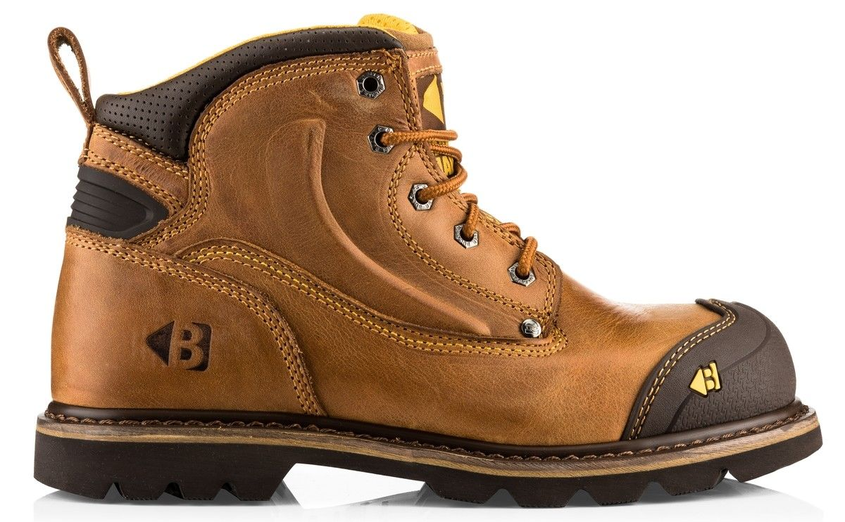 cbcad40bd8f Details about Buckler B550SM SBP brown wide-fit safety boot with midsole &  scuff-cap size 6-13