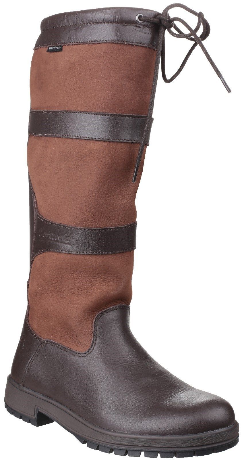 Cotswold Beaumont brown or walnut ladies waterproof pull on high leg boots