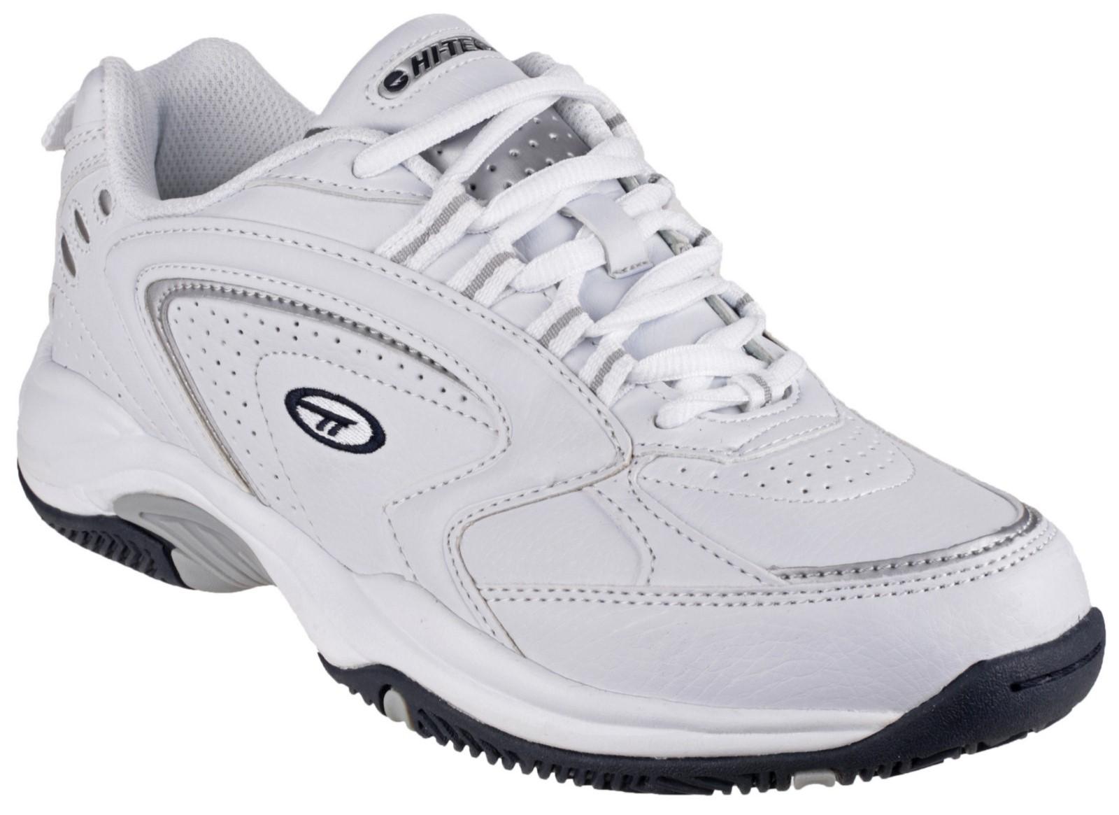 Hi-Tec Blast Lite White Lace Up Lightweight Sports Gym Comfort Trainers Mens SZ