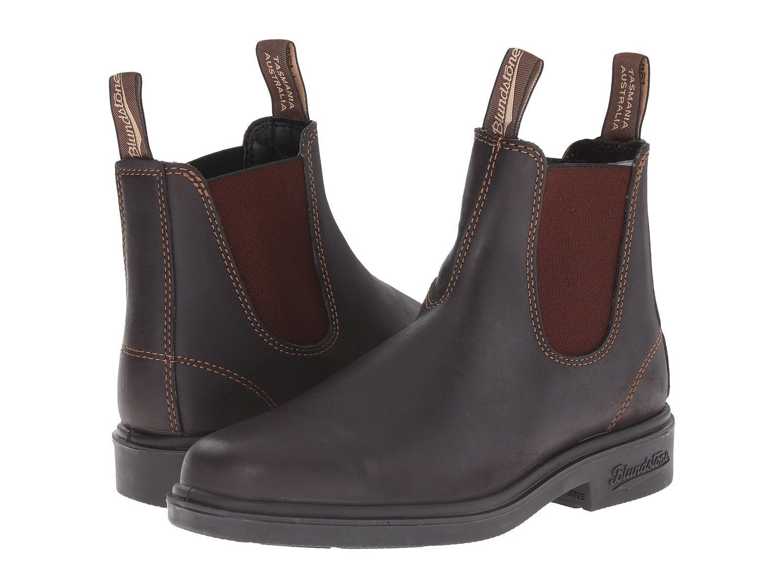 Blundstone 062 stout brown unisex leather non-safety chelsea chelsea chelsea boot size 6-12 UK a15c68