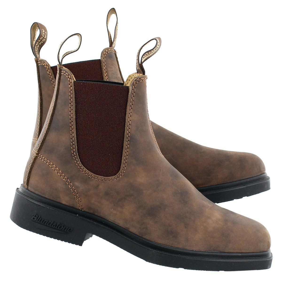 6f9a7069448 Details about BLUNDSTONE 1306 rustic brown leather non-safety chelsea boot  size 6-12UK