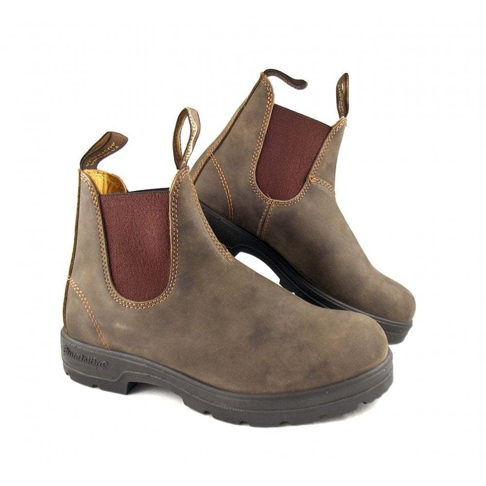 ce71983d3336 BLUNDSTONE 585 rustic brown premium brown non-safety chelsea boot sizes 12  UK