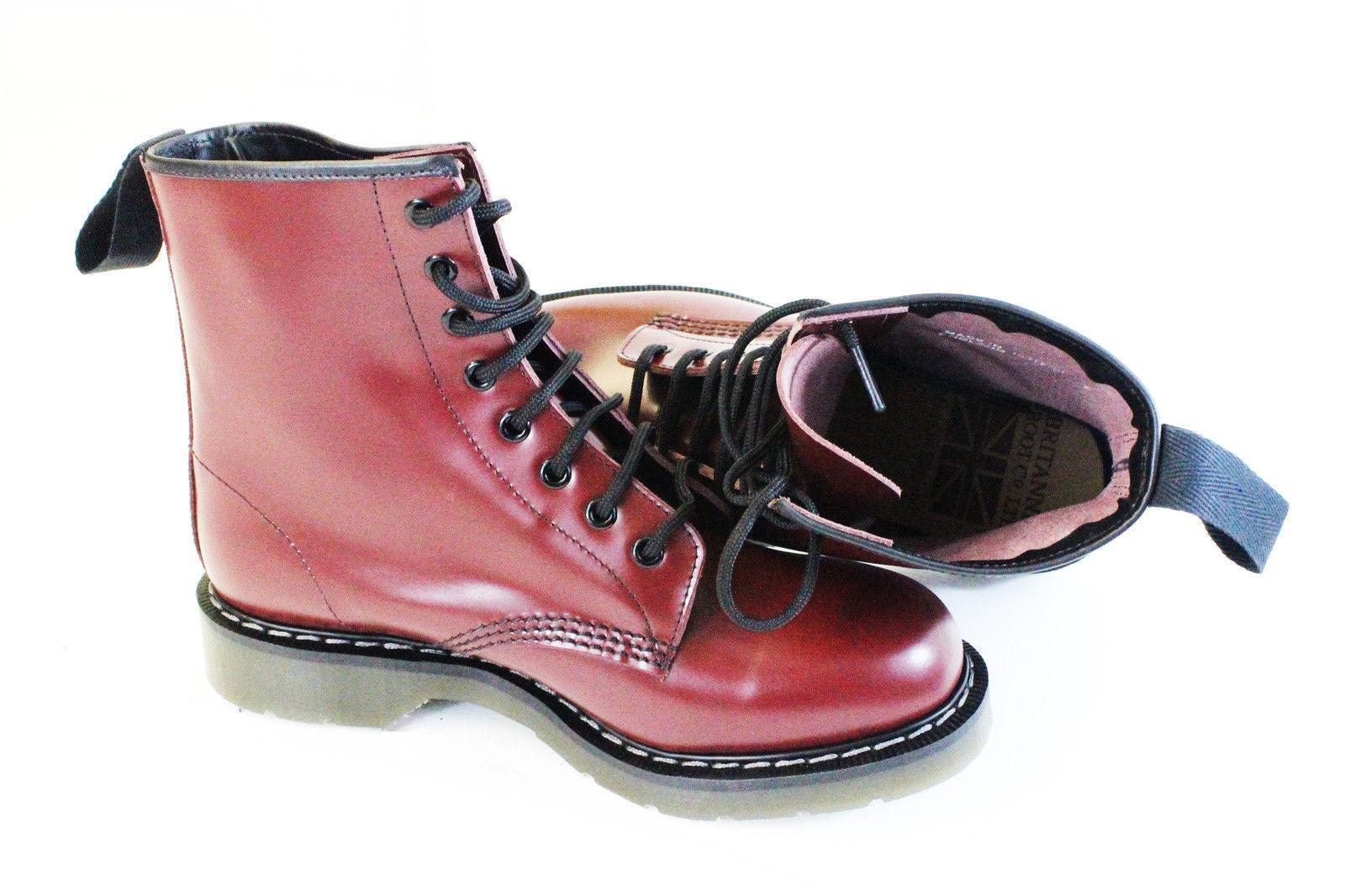 NORTHAMPTON MADE cherry air-cushion red 8 eye non-safety air-cushion cherry sole boot 7-11 b8509d