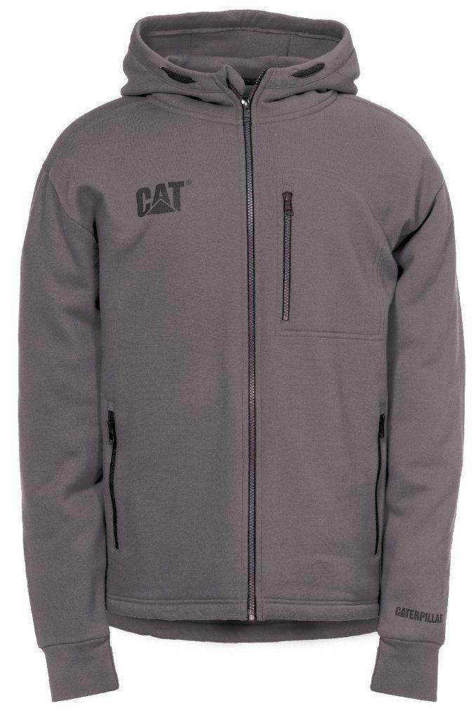 CATERPILLAR CAT 1910080 Yoke red,blue or black zip-up contrast hoodie size S-XXL