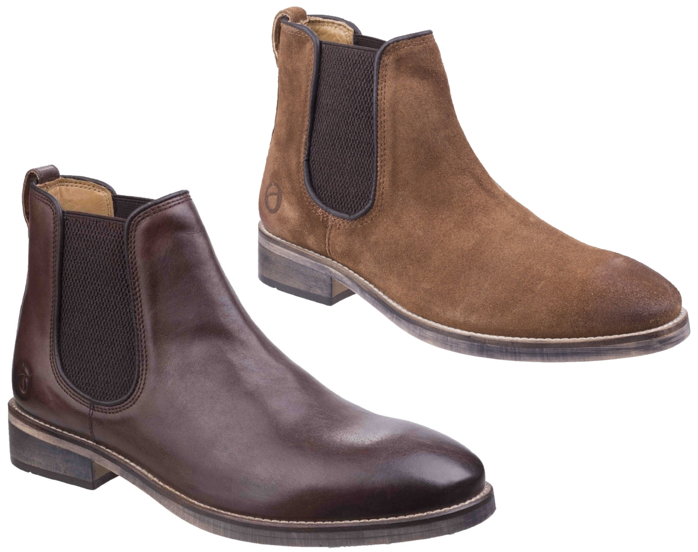 Cotswold Corsham dark brown or camel pull on leather dealer ankle boot