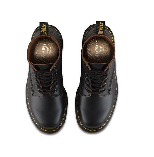 Dr Dr Dr Martens DM 12308001 1460Z Vintage black quilon boot MADE IN ENGLAND sz 3-12UK 7bcde0