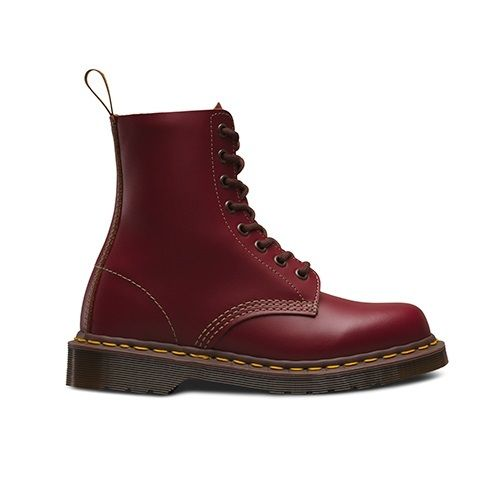 DR-MARTENS-1460Z-vintage-rouge-fonce-Quilon-DM-Boot-Made-in-England-Taille-3-13-UK miniature 7