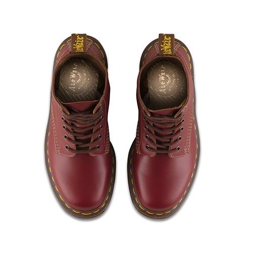 DR-MARTENS-1460Z-vintage-rouge-fonce-Quilon-DM-Boot-Made-in-England-Taille-3-13-UK miniature 8