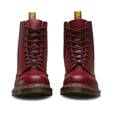 DR-MARTENS-1460Z-vintage-rouge-fonce-Quilon-DM-Boot-Made-in-England-Taille-3-13-UK miniature 9