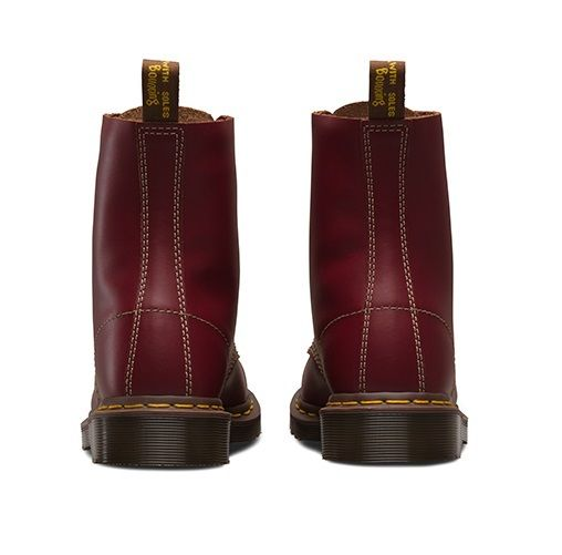 DR-MARTENS-1460Z-vintage-rouge-fonce-Quilon-DM-Boot-Made-in-England-Taille-3-13-UK miniature 10