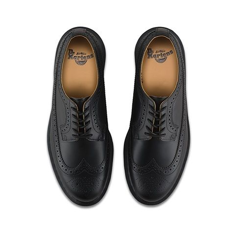 Dr Martens 3989 schwarz smooth Größe Leder brogue Airwair DM Größe smooth 3-12 UK 39a1cb