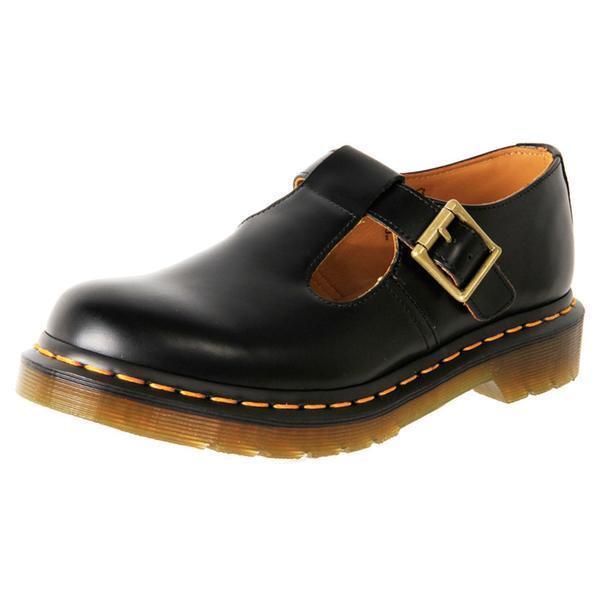 bdc5be77af4 Dr Martens 14852001 Polley black Mary Jane smooth leather shoe size 8 UK
