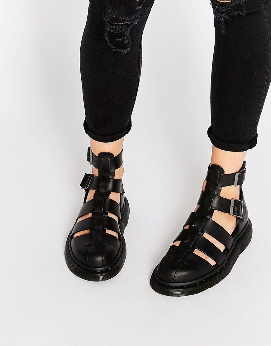 422c06a807c Dr Martens Geraldo black brando leather Airwair DM sandal size 3 ...