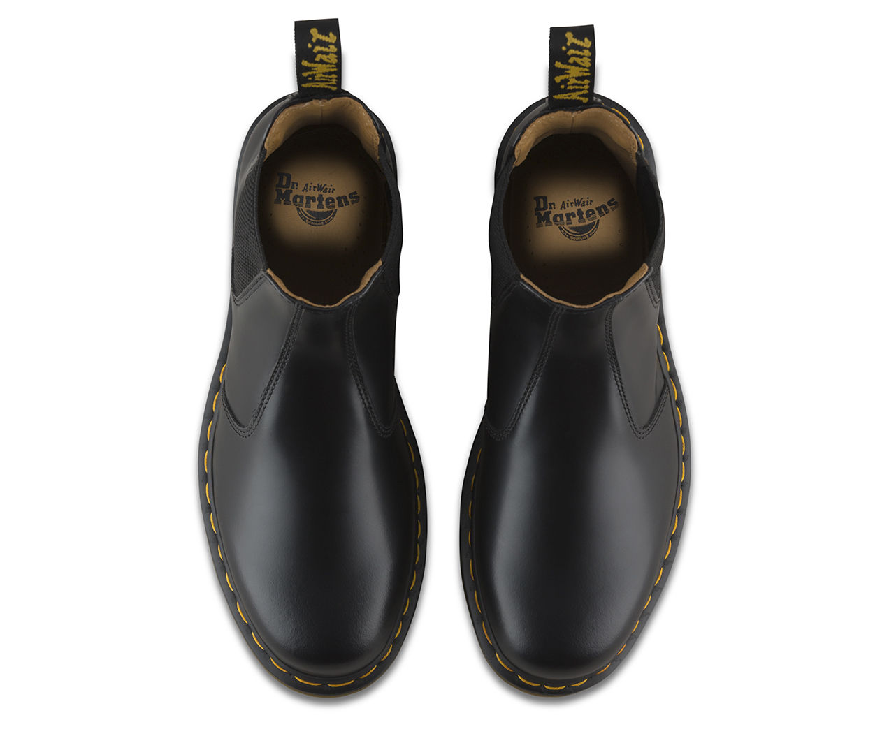 Dr Martens 2976 22227001 Boot Noir Jaune Couture Chelsea Dealer Boot 22227001 taille 3-13UK ff2581