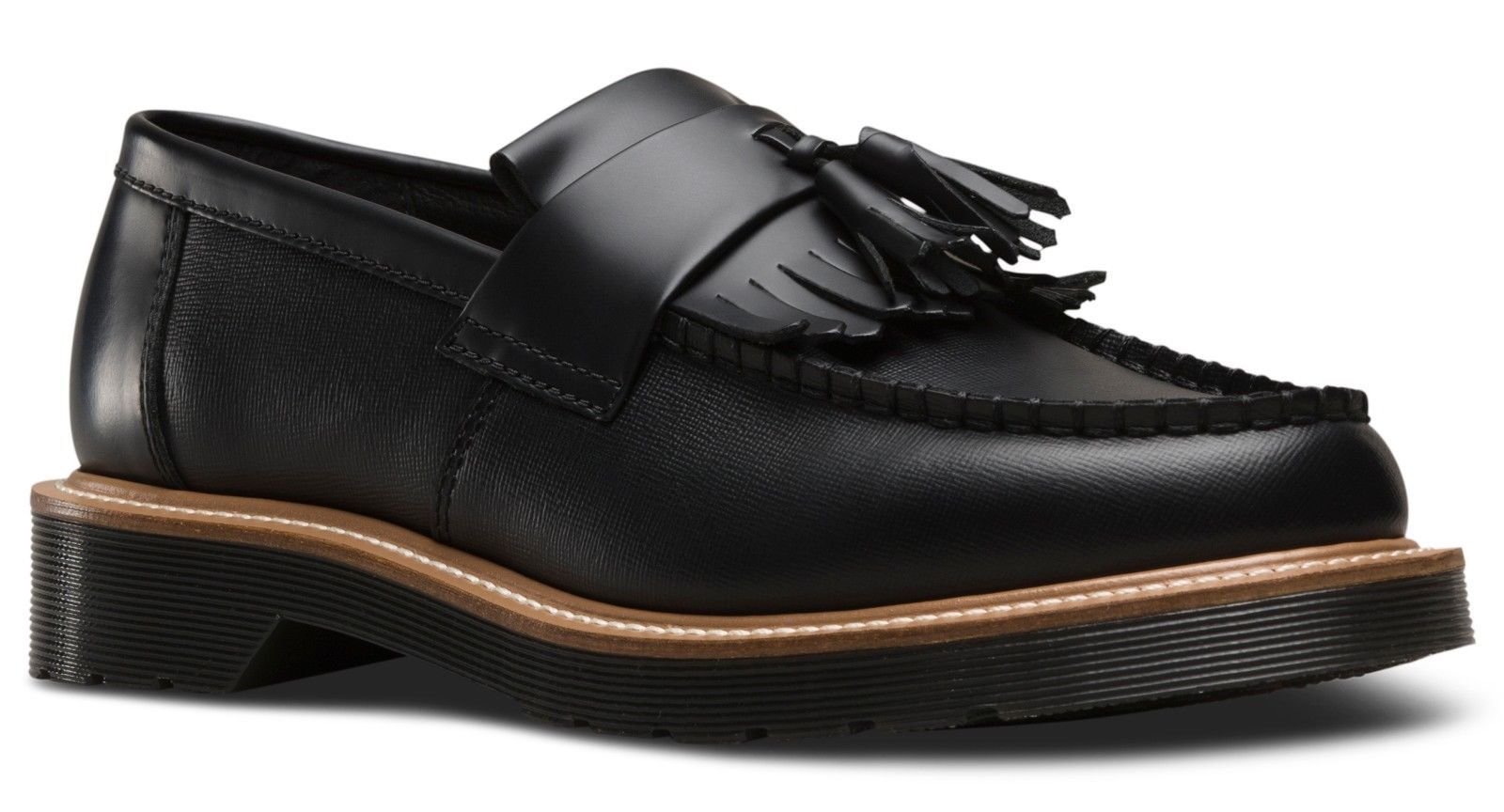 Dr Martens 23163001 Adrian straw black smooth loafer loafer loafer sizes 6-13UK 286971