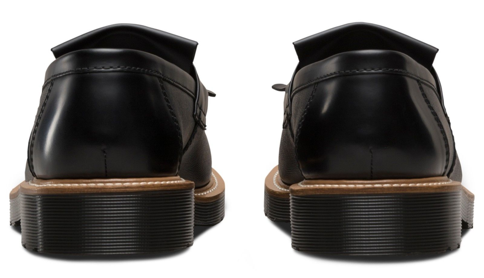 Dr Martens smooth 23163001 Adrian straw black smooth Martens loafer sizes 6-13UK 17c66b