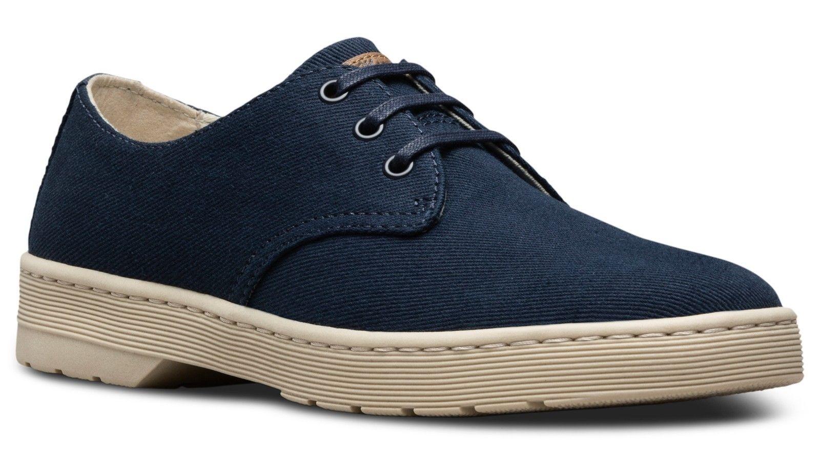 Dr Martens 23437417 Delray navy overdyed twill shoe Größes 6-13UK 6-13UK Größes 1b6466
