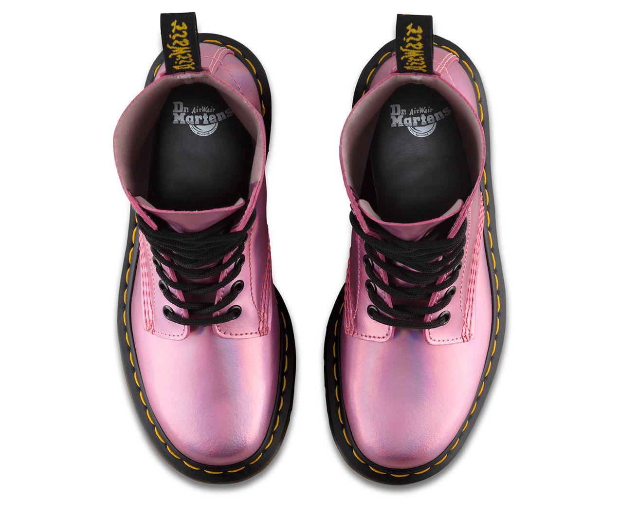 Dr Martens Pascal boot iced metallic pink Leder Airwair DM boot Pascal Größe 3-8UK af3e30