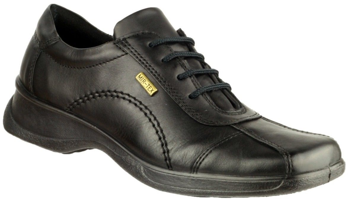 Cotswold Icomb black ladies leather upper size waterproof lace up shoe size upper 3-8 5e46e5