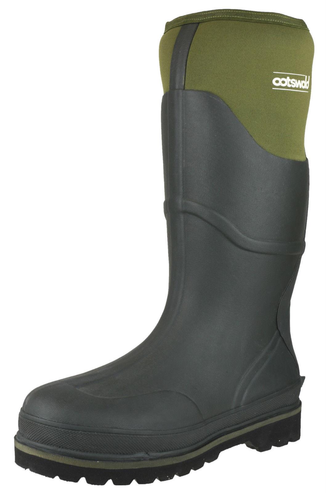 Cotswold Cotswold Cotswold Verde Ranger neoprene Hombre rubber waterproof wellington botas Talla 6-14 d2d64f